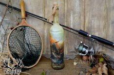 Бутилка с риболовен мотив