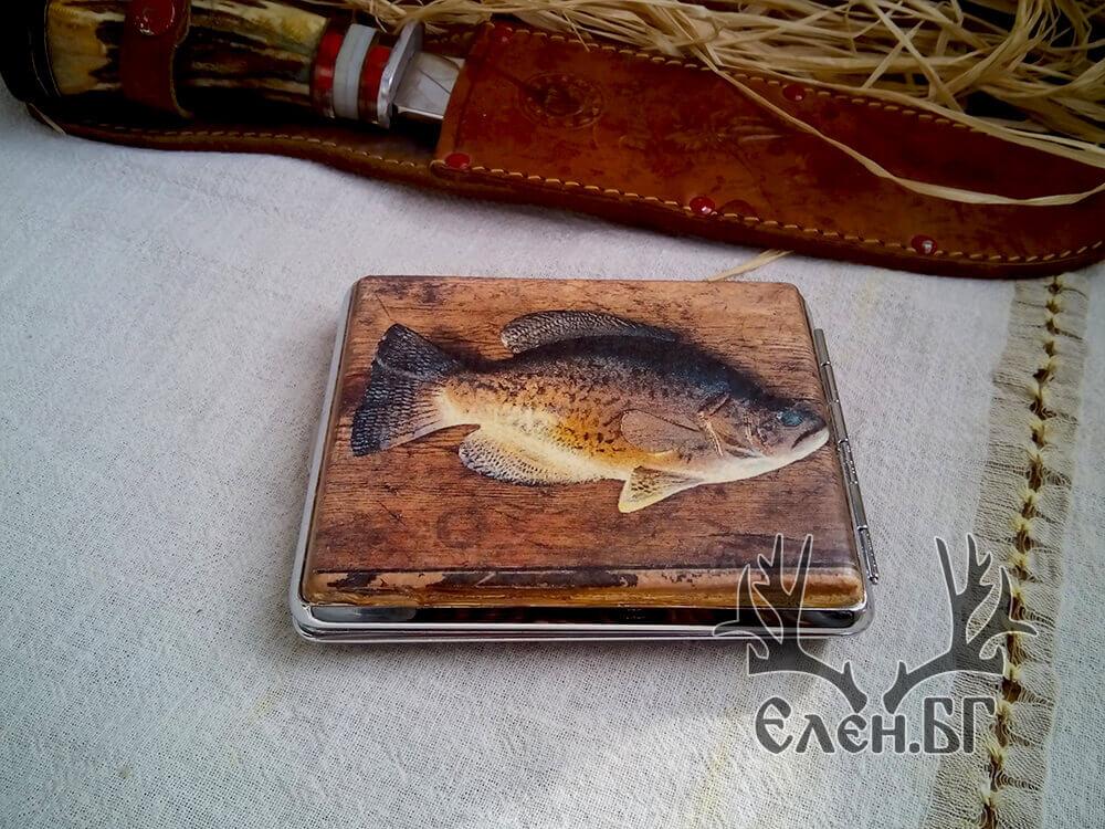 """Табакера за цигари """"Риболов"""""""