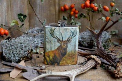 метално патронче с елен за ловец