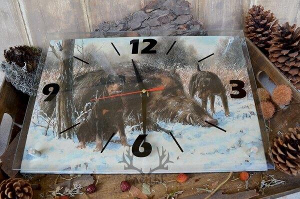 Ловен стенен часовник (голям)
