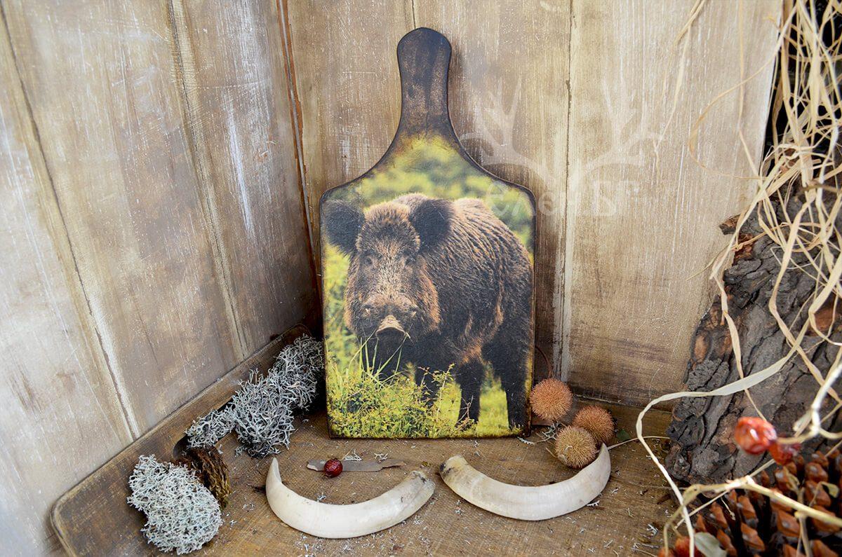 Кухненска дървена дъска за ловна хиша