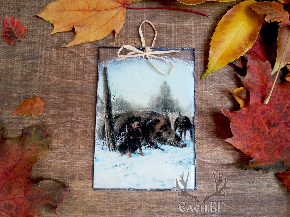стъклена ловна картичка