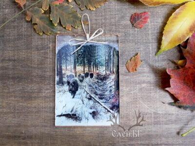 картичка с диви прасета