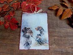 ловна картичка с кучета